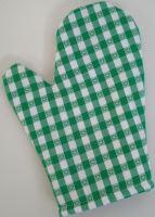 VERATEX Chňapka kuchyňská kanafas zelené srdíčko