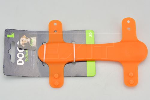 Silikonové LED světlo na obojek DOGS (15cm) - Oranžové - 8719202994735