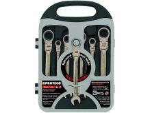 PROTECO - 42.18-343-772 - sada klíčů ráčnových kloubových (8,10,12,13,14,17,19mm)
