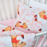 Stanex Dětské ložní povlečení bavlněné berušky růžové (LS310) Dětské ložní povlečení 135x90 + 45x65 - (LS310)