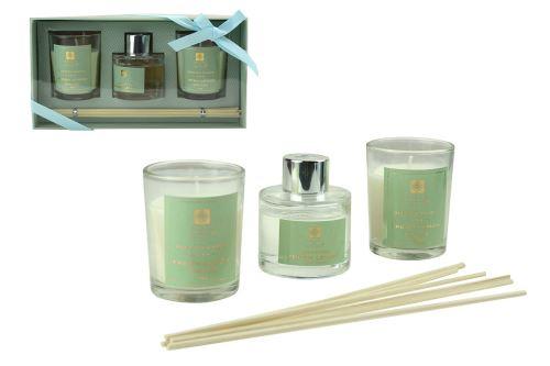 Aroma set 2ks vonná svíčka 45g, 1ks difuzer 30ml