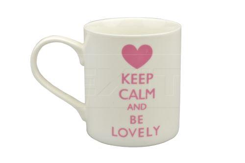 Porcelánový hrníček KEEP CALM AND BE LOVELY (9.5x8cm)