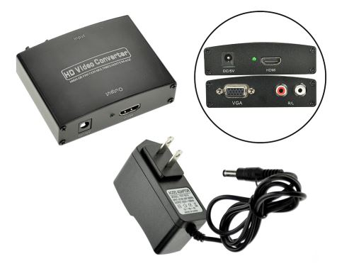 Adaptér VGA na HDMI - Konektor pro USA - 8657988016404