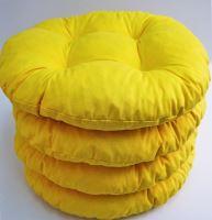 VERATEX Sedák prošívaný kulatý průměr 40 cm (žlutý)