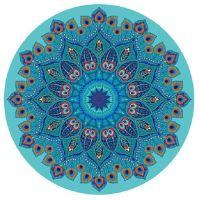 Podložka na jógu kulatá mandala Azure 70cm