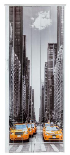 Shrnovací dveře plastové plné s potiskem Taxi New York