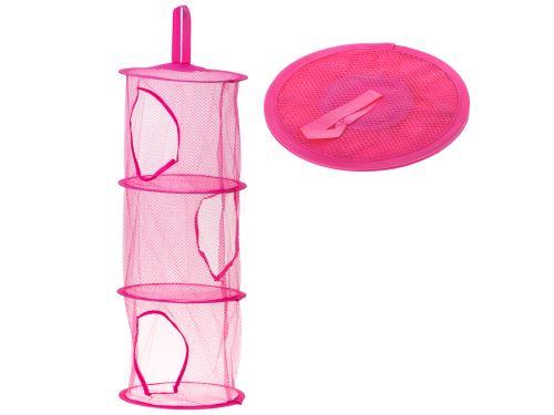 Organizér, tmavě růžová, závěsná polička na hračky