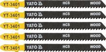 Yato List pilový do přímočaré pily 100 mm na dřevo TPI10 5 ks YT-3401