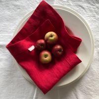 Aesthetic Lněný jídelní ubrousek - 100% len červená