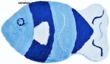 VERATEX Koupelnová předložka LUX ryba 65x110 cm