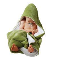 Aesthetic Osuška dětská  s kapucí - mix barev - holka - mikroplyš - bambusové vlákno - 95x95 cm Barva: 334 limetková