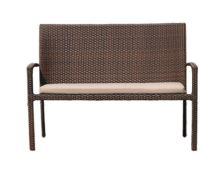 DomusVentures zahradní ratanová lavička BRISBANE s hliníkovou konstrukcí - DV-003649