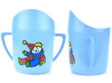 Hrníček pro kojence TVAR 8cm - Modrý s klaunem - 8590394045401