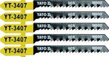 Yato List pilový do přímočaré pily 75 mm na dřevo TPI13 5 ks YT-3407
