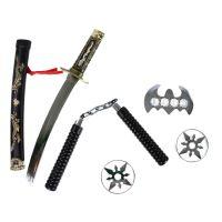 Japonský meč katana s příslušenstvím (8590687057586)