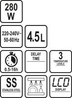 Lund Pomalý hrnec 280W 4,5L s časovačem TO-67660