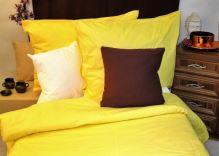 VERATEX Přehoz na postel bavlna140x200 žlutý