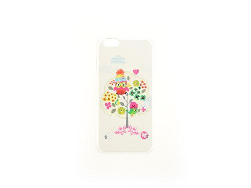 Plastový kryt na iphone 6 Plus - Sova na stromě, čiré - 8657988017517
