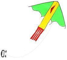 Létající drak nylonový 118 x 98 cm (8590687264397)