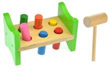 Dřevěná hračka GAZELO (18cm) - Zatloukání kolíků - 5907773991618
