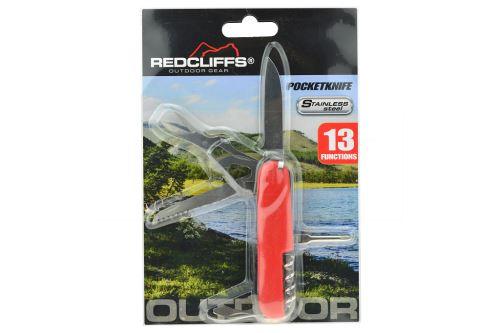 Kapesní nůž REDCLIFFS - 13 funkcí, mix barev - 8718158108104