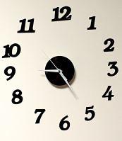 Nástěnné hodiny černé 12 hodin
