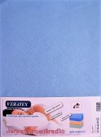 VERATEX Jersey prostěradlo 200x220 cm (č.21-sv.modrá)