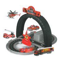Dráha rozložitelná hasiči s kovovými auty (8590687197824)