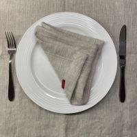 Aesthetic Lněný jídelní ubrousek - 100% len Oatmeal