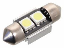 Compass Žárovka 2 SMD LED 12V suf. SV8.5 32mm s rezistorem CAN-BUS ready bílá 33802