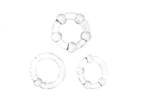 Kroužky na penis (2-2.5-3cm)