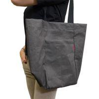 Aesthetic Taška lněná L s kapsou - Graphite Grey