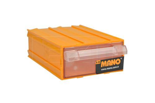 Plastový organizér do dílny MANO K-10 (12x8.5x4cm) - Žlutý - 8697444381103