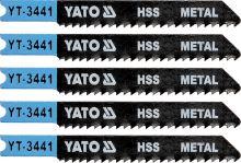 Yato List pilový do přímočaré pily 70 mm na kov TPI12 5 ks YT-3441