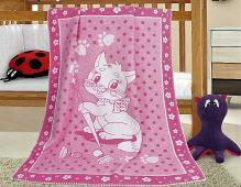 VERATEX Dětská bavlněná deka 100x140 cm kočička