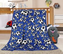 VERATEX Dětská deka - 100x150 cm míč modrý