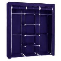 Herzberg HG-8011: Šatní skříň - střední modrá