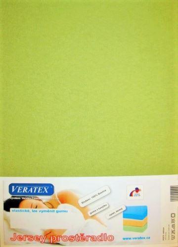 VERATEX Jersey prostěradlo postýlka 70x140 cm (č.25-žlutozelená)