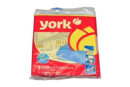 Houbová utěrka YORK (17,5x15,5cm) - Set 3ks mix barev - 5903355000099