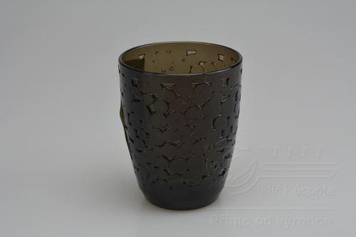 Vzorovaná plastová sklenička BATHROOM (10x8cm)