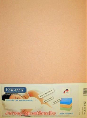 VERATEX Jersey prostěradlo  jednolůžko 90x200/15 cm (č.29-béžová)