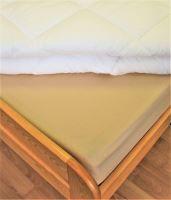 VERATEX Bavlněné prostěradlo 2Lůžko s gumou 180x200/do výšky matrace 15 cm (béžová)