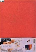 VERATEX Froté prostěradlo  80x200/16 cm (č.16 malina)
