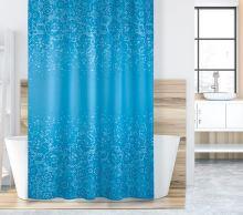 VERATEX Koupelnový závěs 180x200 cm modrá mozaika