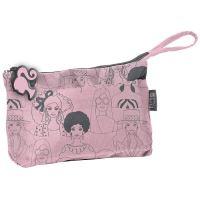 Kosmetička barbie růžovo-šedá bam-444