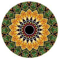 Podložka na jógu kulatá mandala Orange 70cm