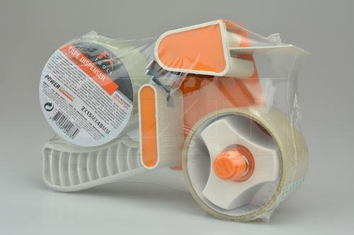 Set odvíječ lepící pásky + 2x lepící páska (15m x 48mm) - 8719202220889