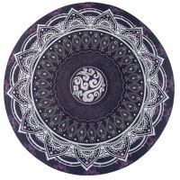 Podložka na jógu kulatá mandala Black 70cm