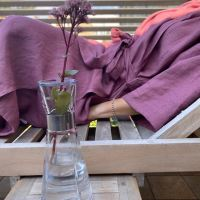 Aesthetic Lněný plášt KIMONO UNI 100% len, gramáž 245g/m2 - MIX barev Barva: Šeříková