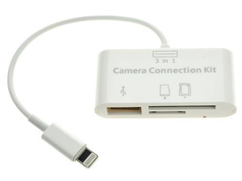 3v1 čtečka karet pro iPad - Lightning - 8657988016510